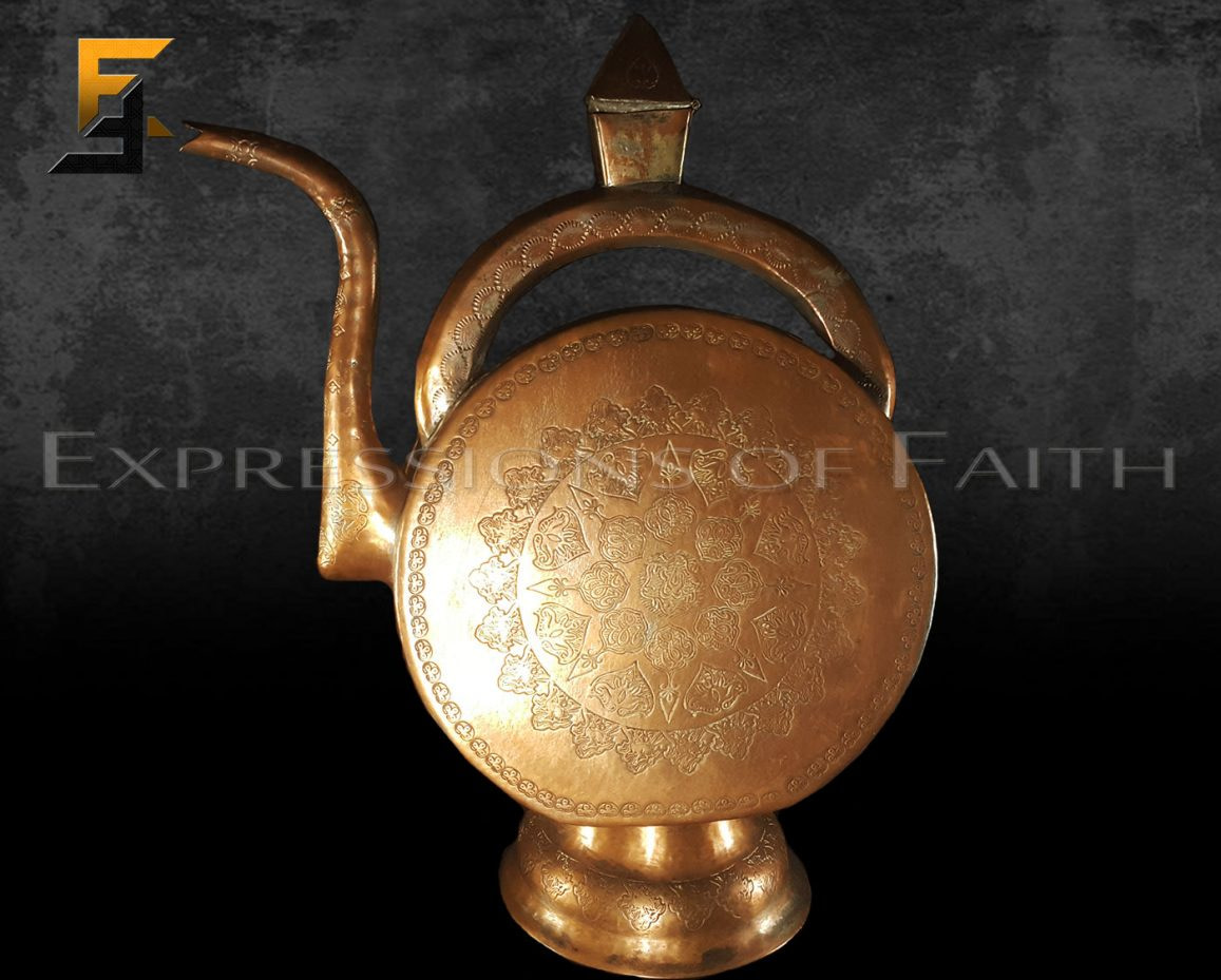 OE002 Ornate Copperr Ewer 001 - Antiques Shop
