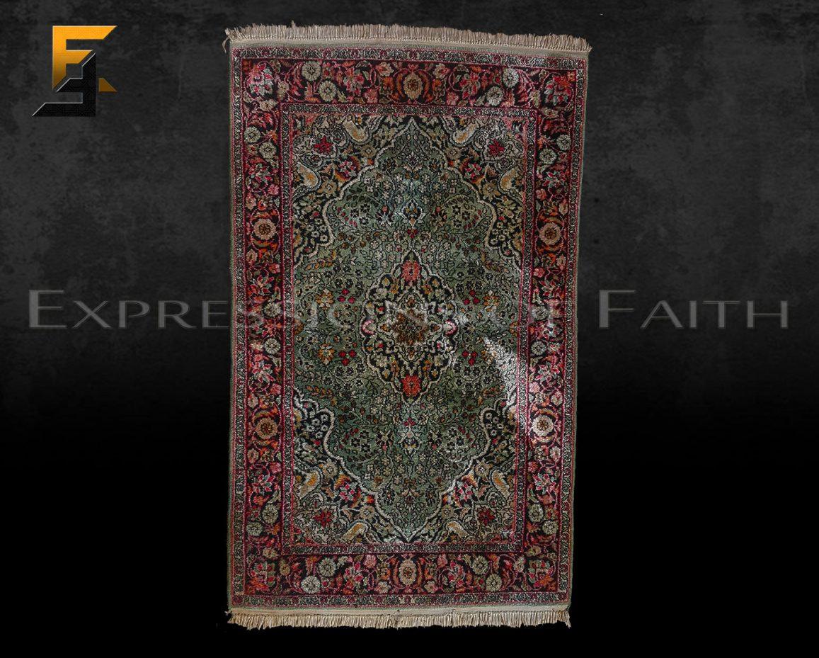 CAR005 Indian Silk Area Rug 001 - Carpet Shop