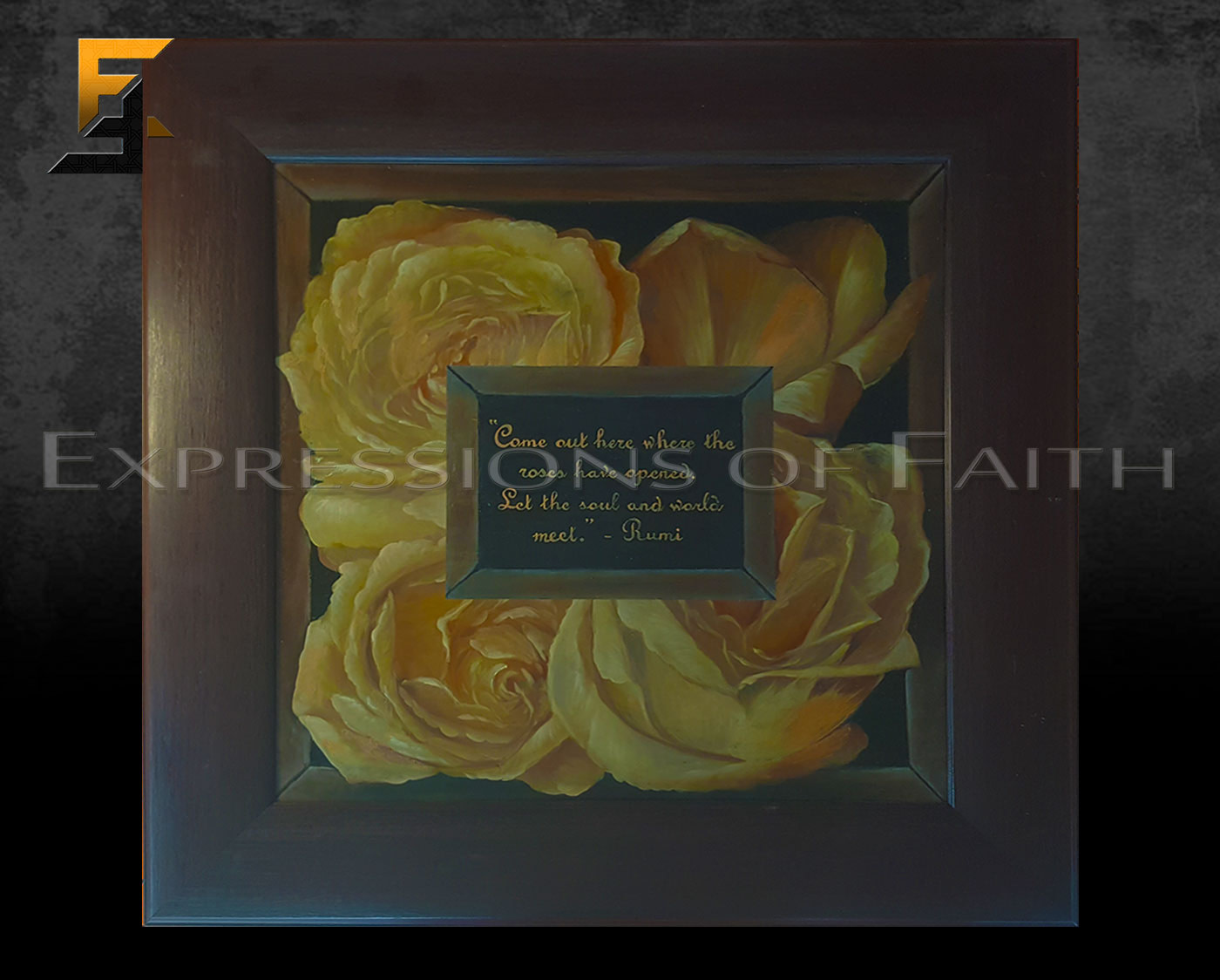 AF042 Rose Bed Rumi - Art Shop