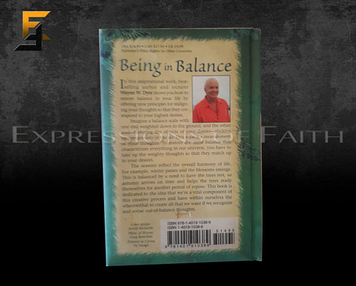 B012 Being in Balance Dr Wayn Dyer Back 500x401 - Book Shop