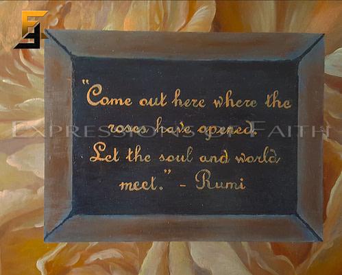 AF042 Rose Bed Rumi 03 500x401 - Art Shop