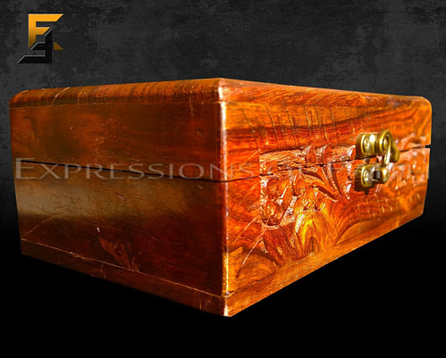 Indian Carved Jewellery Box