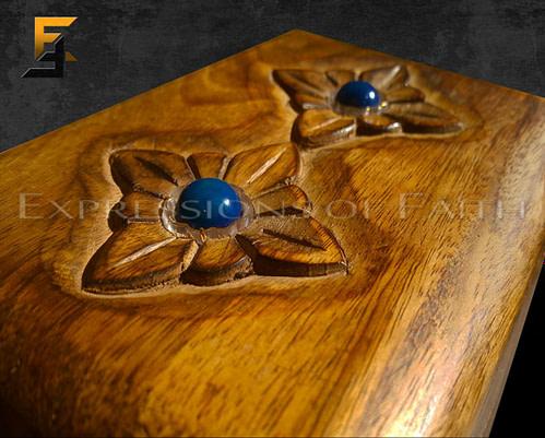 Walnut and Lapis Jewellery Box
