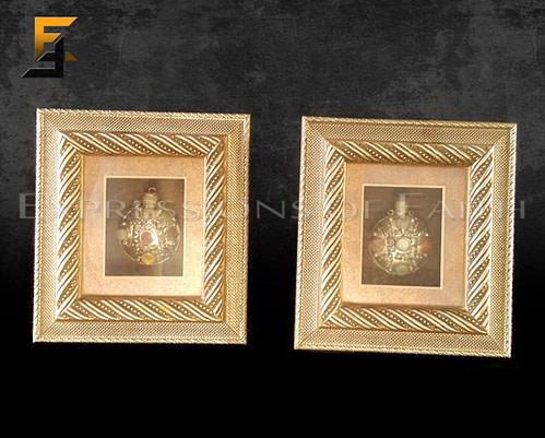 Framed Gemstone Perfume Bottles