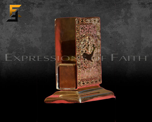 AB001 Persian Brass Letter Holder 03 500x401 - Antiques Shop