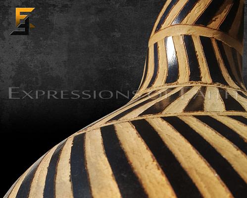 African Carved Calabash Set