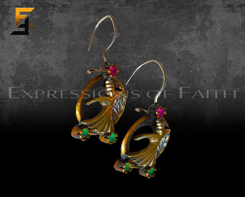 Whirling Dervish Figure Earrings