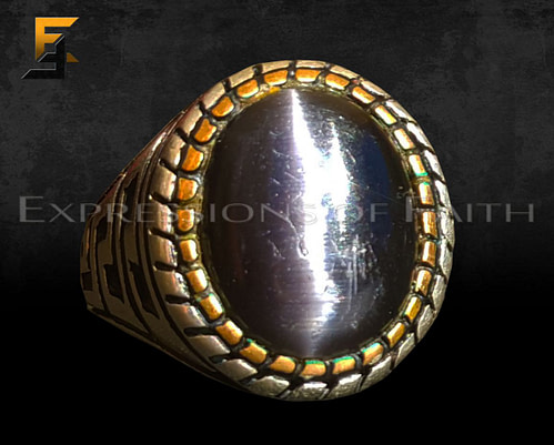 Black Tigers Eye Ring