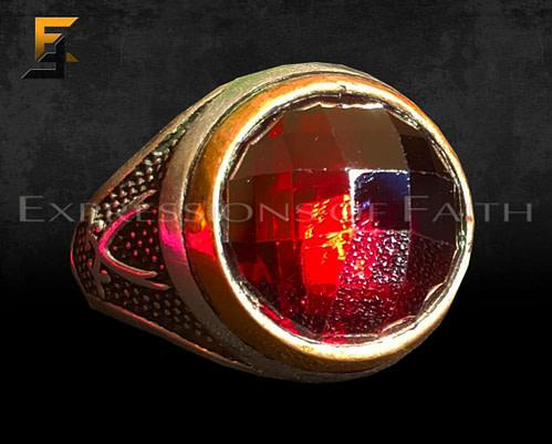 JS010 Red Stone 001 500x401 - Zulfiqah Garnet Silver Ring