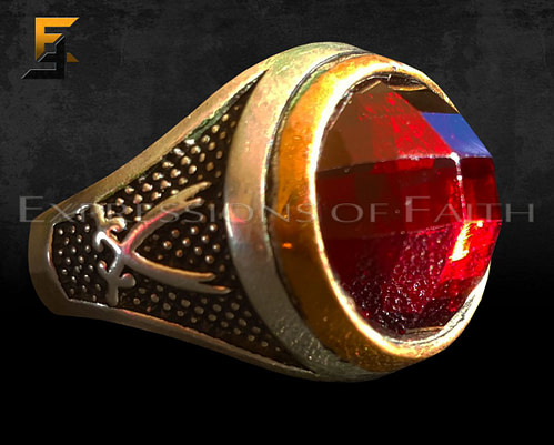 Zulfiqah Garnet Silver Ring