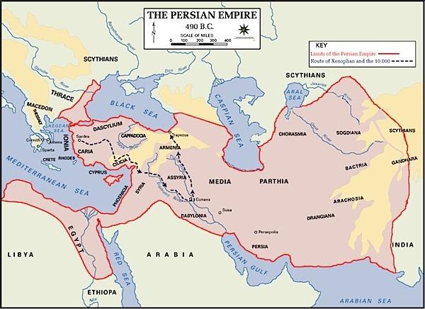 Persian Empire Map - The History of Persian Art
