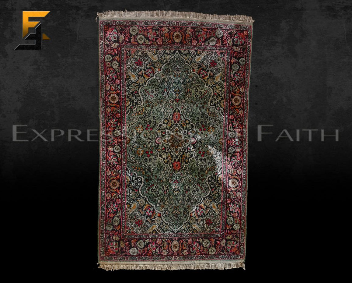 CAR005 Indian Silk Area Rug 001 - Carpet Shop