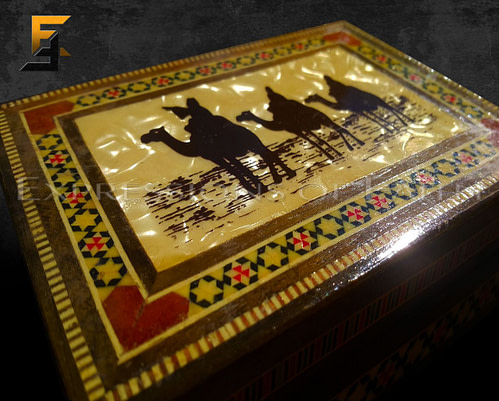 Camel Marquetry Box