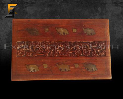 Elephant Carved Jewellery Box