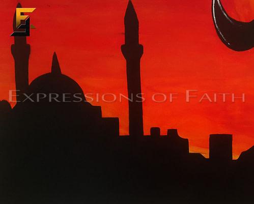Kalimah Tayyibah Sunset (Print)