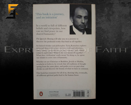 B016 The Quest For Meaning Tariq Ramadan Back 500x401 - Book Shop