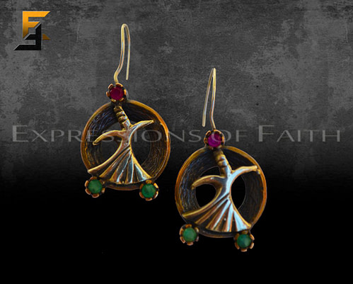 Whirling Dervish Figure Earrings