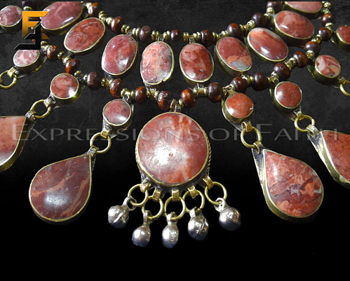 Afghan Pink Jasper Necklace