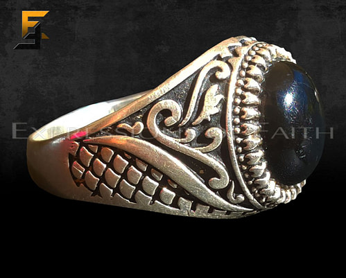 Pakistan Silver Onyx Ring